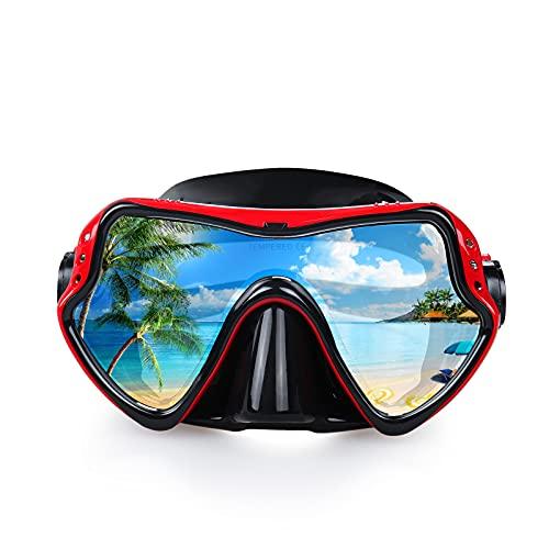 EXP VISION Mascara Buceo Adulto, Equipo de Buceo Profesionales con vista amplia for Men Women Mascara Snorkel, Gafas Buceo en Silicon para adultos, niños y niñas