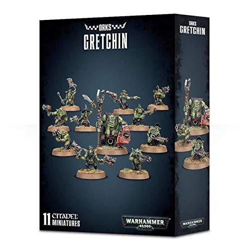 Games Workshop 99120103053 - Ork Gretchin - Warhammer 40000 - Contiene 10 Figuras gretchins y un Ork Runtherd - Miniaturas Citadel