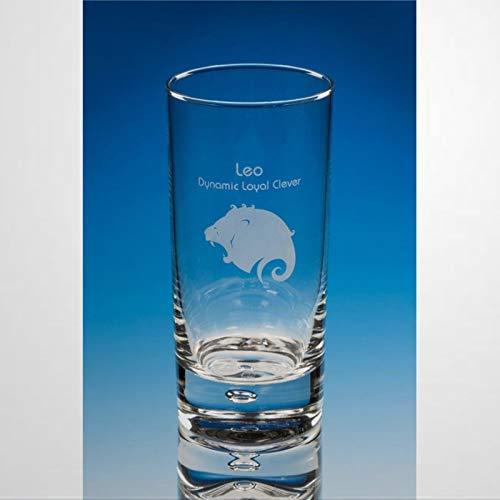 Leo - Vaso de vino sin tallo, cristal grabado, vaso de whisky, perfecto para padre, mamá, niño o novia, amiga