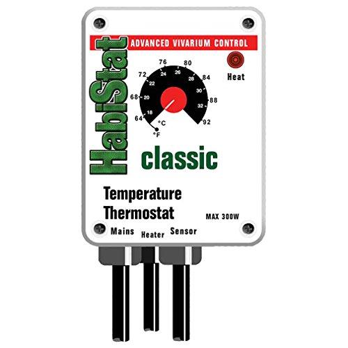 Habistat Temperature Thermostat 300W White