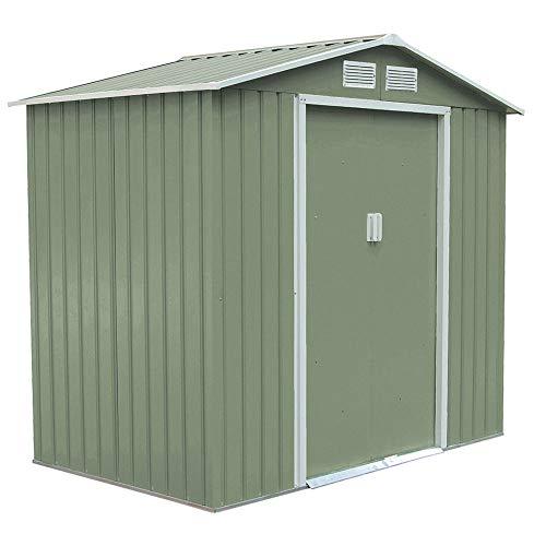 *SVITA S100 XL Metall Gerätehaus Verschiedene Größen Geräteschuppen Garten Schuppen Gartenhaus Farbwahl (grün)*