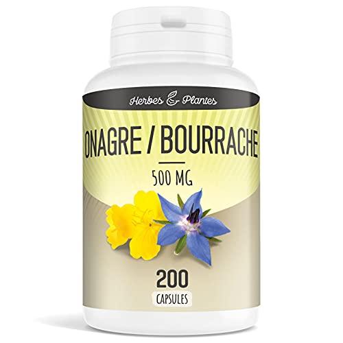 Herbes Et Plantes Onagre/Bourrache 200 Capsules...
