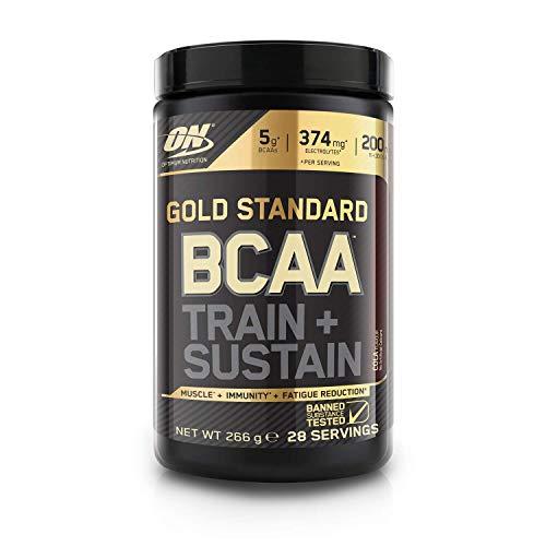 Optimum Nutrition Gold Standard BCAA Pulver, Aminosäuren Komplex Hochdosiert mit Vitamin C, Wellmune, Magnesium und Elektrolyten, BCAAs Pulver von ON, Cola, 28 Portionen, 266g