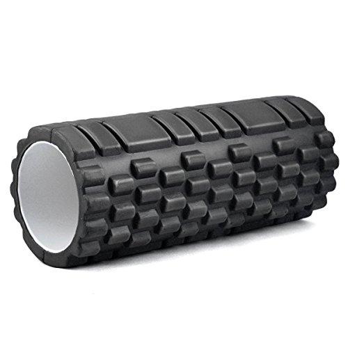 Kabalo 1 x Textured Triggerpunkt - Trigger Point Foamroller- Übung / Yoga Foam Roller Gym , Pilates, Physio - Schwarz - Hause Fitnessgeräte