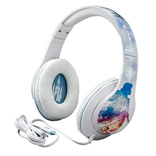 Disney Eiskönigin 2 / Frozen 2 Kopfhörer mit integriertem Mikrofon und Musiksteuerung; größenverstellbar für Kinder & Erwachsene - eKids Di-M40FRV2