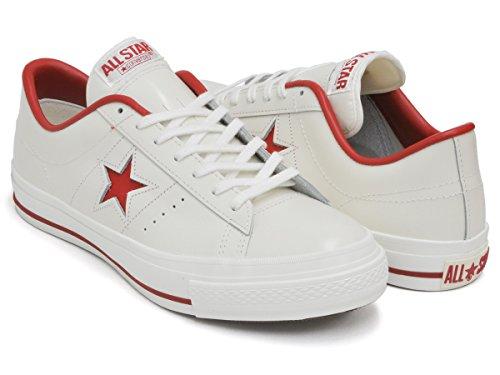 [コンバース] ONE STAR J [ワンスター メイド イン ジャパン 日本製] WHITE/RED 32346512 26.0(7H) US