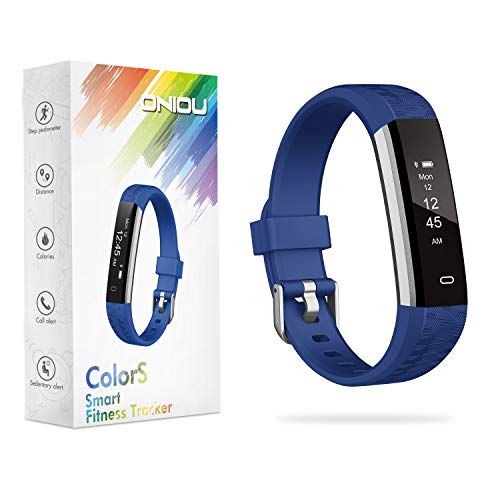 ONIOU Kids Fitness Tracker Watch, IP67 Waterproof Activity Tracker with Sleep Monitor, Alarm Clock, Sedentary Reminder, Pedometer Watch with Calorie Counter, for Children,Blue