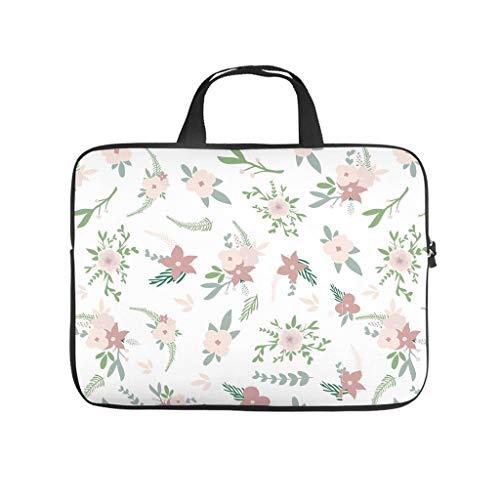 Flora - Borsa per computer portatile, impermeabile, motivo floreale, per lavoro, lavoro, lavoro