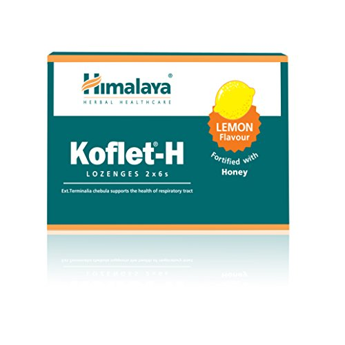 Himalaya Herbal Healthcare Koflet-H Lozenges Fortified with Honey and lemon, Relieves Cough, tonsillitis,Loaded with anti-allergic, antimicrobial and immune-resistance properties -12 lozenges
