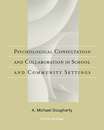 Casebook of Psychological Consultation and Collaboration...