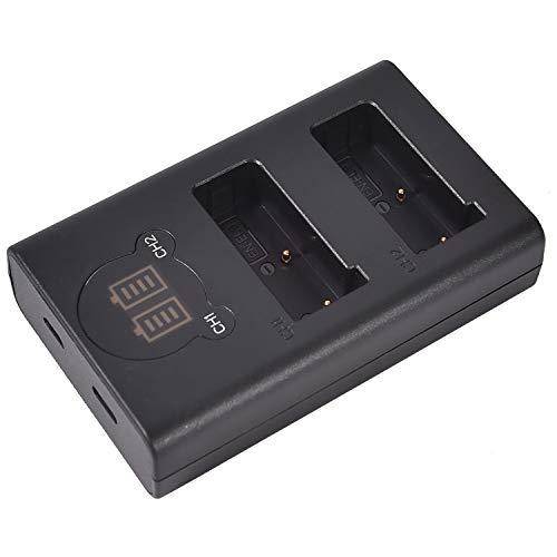 DSTE MH-23 - Cargador doble USB con pantalla LCD (compatible con Nikon EN-EL9, ENEL9, EN-EL9A, alimentado por cable USB tipo C a conector USB A 2.0)