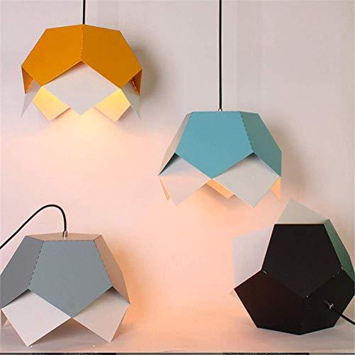 Lampadario Origami geometrico Colore Pentant in alluminio Lampada Ristorante Cafe Camera da letto Lampada a sospensione Grigio