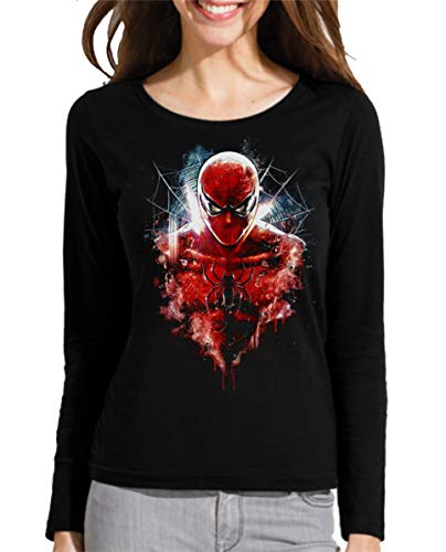 Camiseta Manga Larga de Mujer Spiderman Venom Duende El Hombre araña 020 S