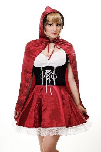 DRESS ME UP - L064/44 Disfraz Mujer caperucita roja barroco gótico Lolita cuento talla 44/L