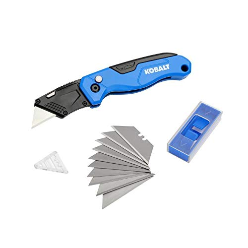 Kobalt Speed Release Folding Lock-Back Utility Knife with 10 Blades