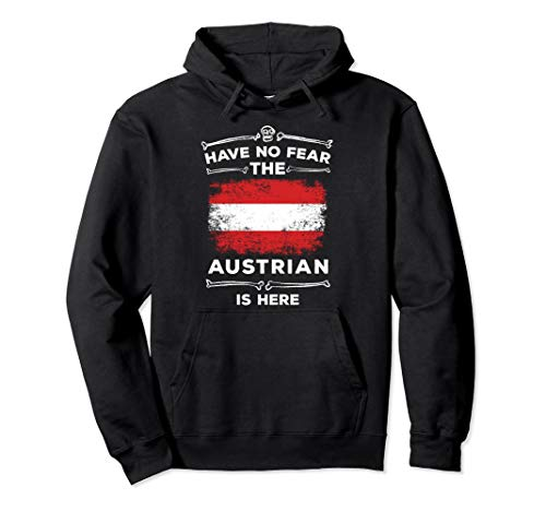 Have No Fear The Austrian Is Here Halloween Austria Flag Pullover Hoodie