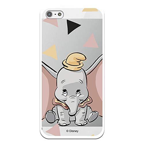 Funda Oficial Disney Dumbo Silueta Transparente para iPhone 5-5S - SE Licencia Oficial de Disney