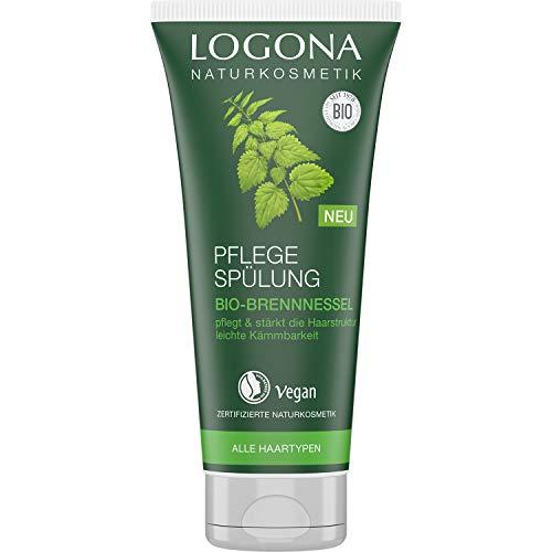 LOGONA Naturkosmetik Pflege Spülung Bio-Brennnessel, Natürlicher Conditioner für jedes Haar, Intensive Pflege für weiche Haare, Verbesserte Kämmbarkeit, Vegan & silikonfrei, 200ml