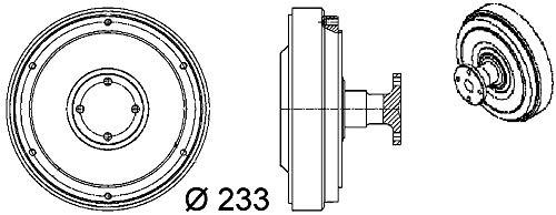 MAHLE CFC 98 000P BEHR PREMIUM Line - Acoplamiento para ventilador