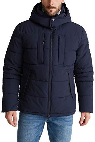 ESPRIT Herren 090EE2G302 Jacke, 405/DARK Blue, XL