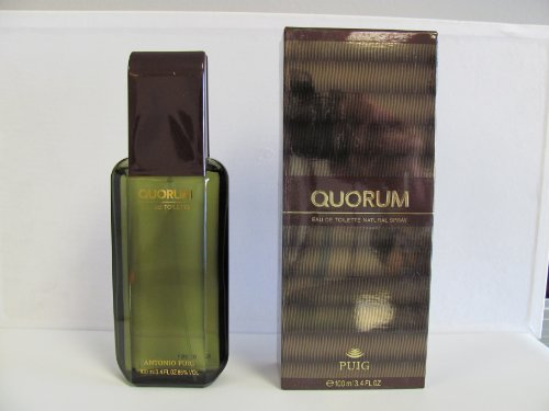Puig – Quorum von Antonio für Herren. Eau de Toilette Spray 3.4 Oz/100 ml