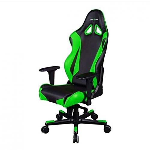 DXRacer OH/RJ001/NE DX Racer, R-Serie, Racing Serie, Bürostuhl, Drehstuhl, Kunstleder schwarz- grün, das Original