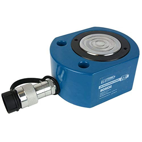 TEMCo HC0034 Low Profile Height Hydraulic Cylinder Puck 50 Ton, 0.63