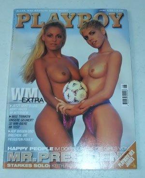 Playboy Magazin Juni 1998 Zeitschrift Original Deutsche Ausgabe 6/1998 MR. PRESIDENT: T & DANII, CELINA