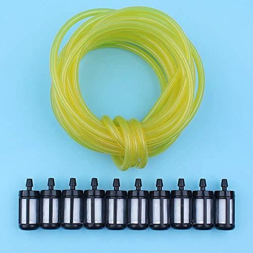 Filtro de Tubo de Manguera de línea de Gas de Gasolina de 5 Metros 3 x 6 mm Compatible con Stihl Husqvarna Poulan Craftsman Echo Blower Desbrozadora Trimmer Motosierra