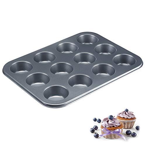 Westmark Muffinbackform, Für 12 Muffins, Antihaftbeschichtet, Kaltgewalzter Stahl, Back-Meister, Anthrazit, 32902270