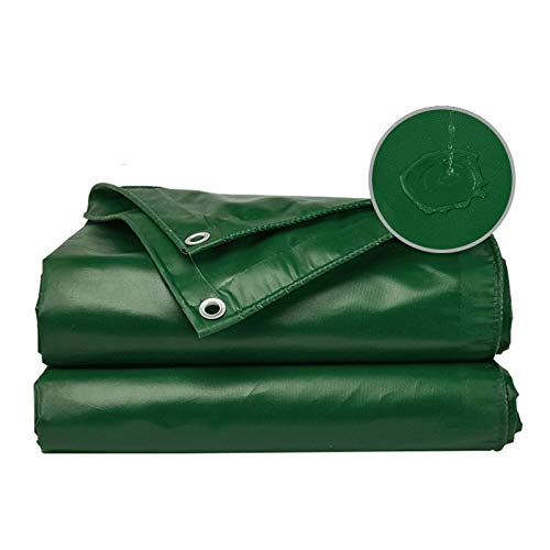 GDMING Lonas Tarea Pesada Impermeable Hoja, con Ojales Reforzados Durable Exterior Cubrir por Buque De Vapor Camión Marquesina A Prueba De Lluvia, 16 Tamaños (Color : Green, Size : 7x5m)