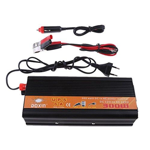 MagiDeal Convertisseur Voiture 300w Power Ups Onduleur Transformateur de Tension 12v à Ca 220v