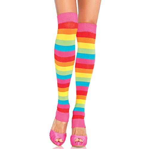 Leg Avenue Women's Rainbow Pride Festival Thigh Highs Socks, Multicolour, One Size