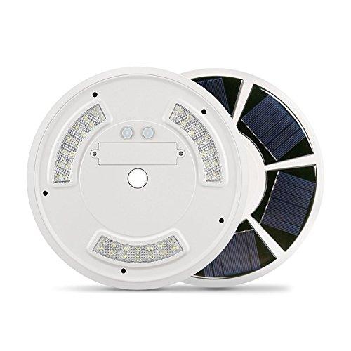 lzndeal Lumière Solaire de Polonais de Drapeau de 42 LED avec Le Crochet Downlight économiseur d'énergie imperméable à l'eau pour Le Camping extérieur