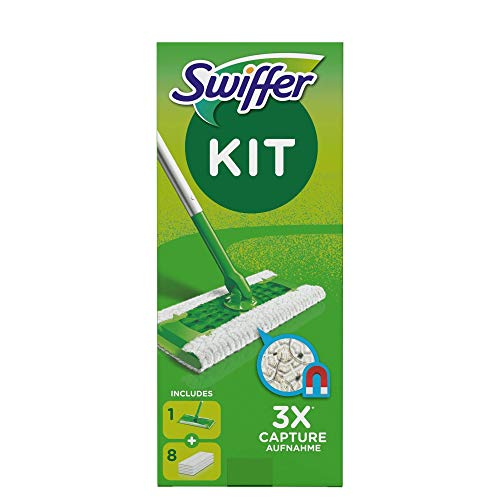 Swiffer - Kit Mopa con 8 recambios secos