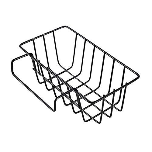 Star Eleven Home Spüle Schmiedeeisen Ablaufkorb Hängekorb Küche Filter Waschbecken Reinigungsmittel Rack 180 g Schwarz