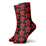 Communist Star; Marteau et Faucille Chaussettes de sport classiques 30 cm Convient aux hommes et femmes