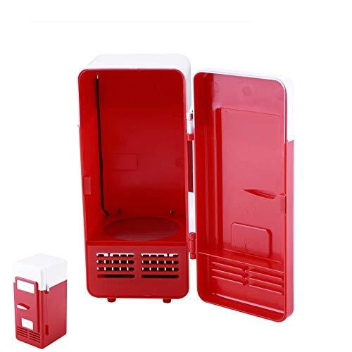 Dlovey Réfrigérateur De Voiture USB Mini Réfrigérateur-Portable Compact Réfrigérateur-Boissons Canettes De Boisson, Réfrigérateur, Chauffage,Rouge
