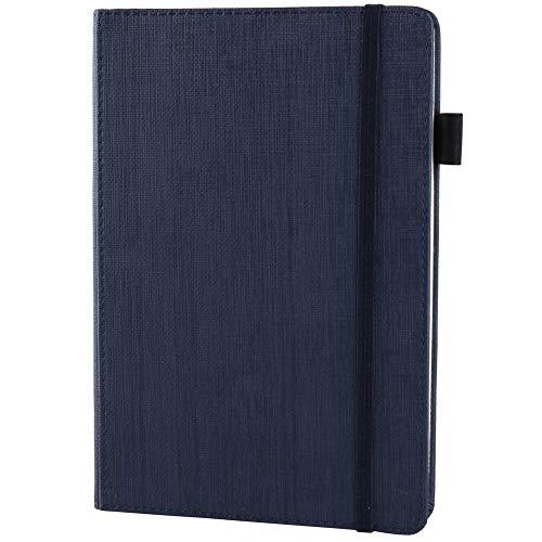 Notizbuch,LUOLLOVE100 Blatt Premium Papier A5 Journal + Stifthalter,Hardcover-Notebook mit Geschenkbox - Blau (8.3 * 5.8 inches)