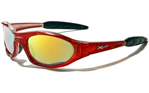 Gafas de sol X-Loop Xtreme con filtro UV 400, perfectas para esquí, snowboard, ciclismo, pesca, con diseño unisex, mujer, rojo