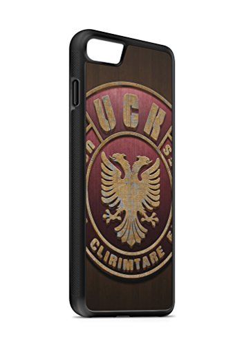 Kompatibel mit iPhone 8 Silikon Handyhülle Flexibles Slim Hülle Cover Albanien Adler Fahne Flagge Schwarz