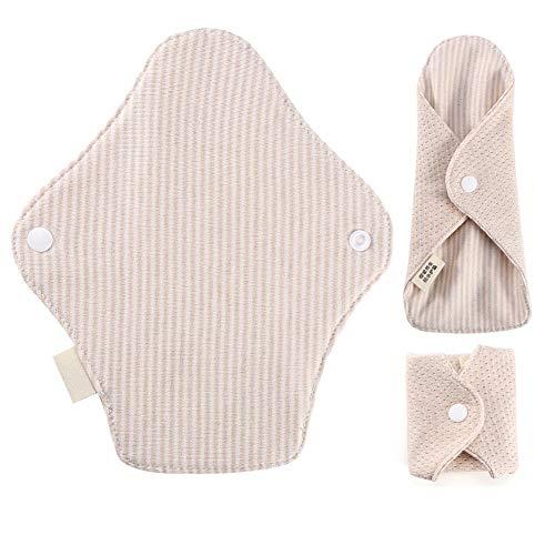 Almohadillas menstruales - Toallita sanitaria femenina reutilizable Paño menstrual lavable 7.5 x 2.6 pulgadas