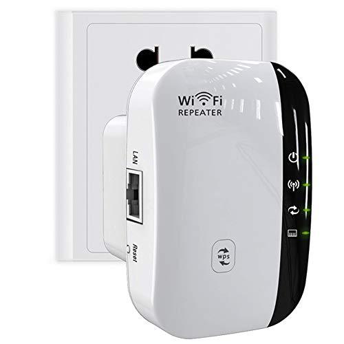FONCBIEN Ripetitore WiFi Wireless,300Mbps Amplificatore Segnale Wi-Fi Range Extender WiFi Repeater,modalità AP Repeater, Porta LAN RJ45, Compatibile con Modem Fibra e ADSL (300M)