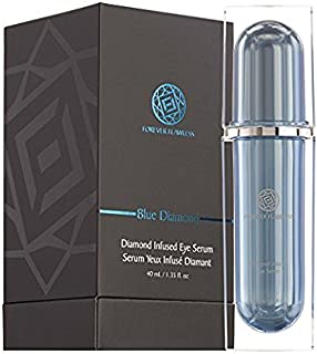Forever Flawless Diamond Infused Eye Serum Designed to Diminish Dark Puffiness, Bags, Dark Circles, Wrinkles for Eyes w Rejuvenating Deep Skin Penetration FF21, (1.35 oz)