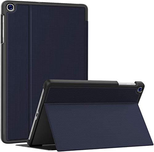 Soke Hülle für Samsung Galaxy Tab A 10.1 2019 (SM-T510/T515), Folio Ständer Superdünn TPU Leder Smart Schutzhülle für Galaxy Tab A Hülle 10.1 Zoll, Marine
