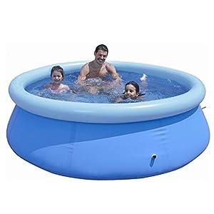 KKTECT Piscina Inflable Redonda Piscina Inflable para niños 240 * 240 * 63 cm Grande Juguetes de pulverización de Agua para jardín Familiar al Aire Libre para 4-6 Personas
