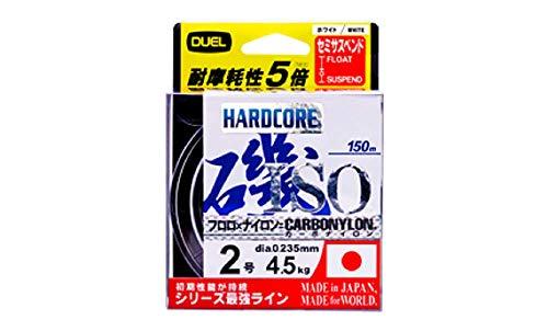 DUEL(デュエル) HARDCORE(ハードコア) カーボナイロンライン 1.75号 HARDCORE ISO 150m 1.75号 O 高視認オレンジ H3400-O