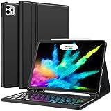 Earto iPad Air 4 Hülle mit Tastatur 2020, iPad Pro 11 Tastatur 2021, Abnehmbare kabellose Tastatur - iPad Air 4 10,9 Zoll 2020, iPad Pro 11 Zoll (3. /2. /1. Gen), Deutsches QWERTZ-Layout, Schwarz