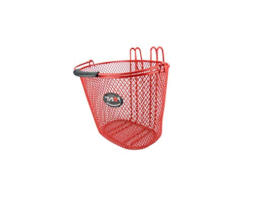 P4B | Trendiger Fahrradkorb für Kinder in Rot | Engmaschig in 4 Farben | Vorderradkörbe für Kinder