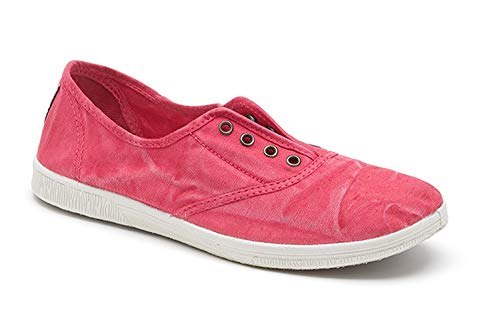 NATURAL WORLD Eco 612 Ladies Womens Canvas Lace UP Flat Gym Shoes Sneakers Trainer Pumps Size Washed out Style